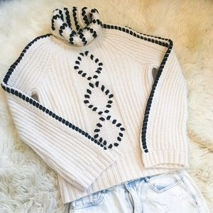 INTERMIX Black and White Knit Sweater